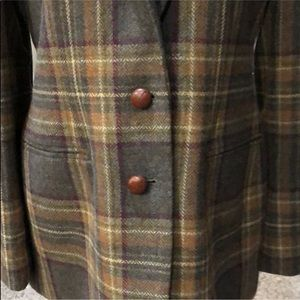 Ralph Lauren Jackets & Coats - Plaid wool Ralph Lauren blazer w elbow patches